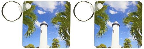 3dRose Puerto Rico, Rincon, Punta Higuero Lighthouse-CA27 WBI0209 - Walter Bibikow - Key Chains, 2.25 x 4.5 inches, set of 2 (Puerto Rico Lighthouses)