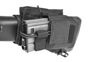 m1surplus Tactical Cheek Rest with Detachable Magazine Pouch - Black