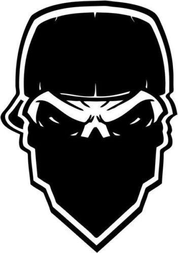 Gangster Mask Skull Death Vinyl Graphic Car Truck Windows Decor Decal Sticker - Die cut vinyl decal for windows, cars, trucks, tool boxes, laptops, MacBook - virtually any hard, smooth surface - Gangster Mask