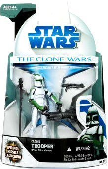 Star Wars Clone Wars Animated Action Figure No. 26 Clone Trooper 41st Elite Corps (Star Wars 41st Elite Corps Clone Trooper)