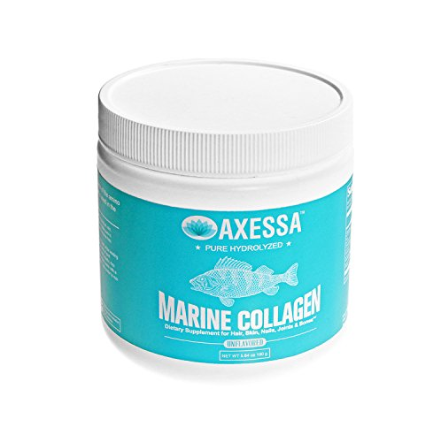 Cheap Axessa Marine Collagen Powder (160 gram) | Pure Hydrolyzed Peptides, Atlantic Canada Ocean Fish, Non-GMO, Fat Free – Vital Supplement for Anti Aging, Healthy Hair, Skin, Nails, Muscles, Joints & Bones