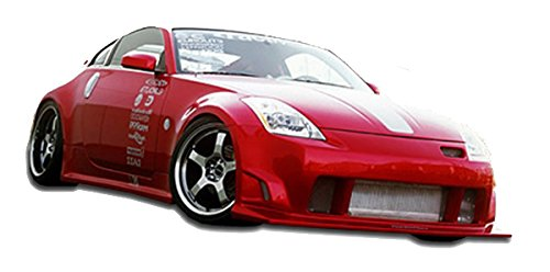 KBD Body Kits Compatible with Nissan 350Z 2003-2008 ING Style 4 Piece Flexfit Polyurethane Full Body Kit. Extremely Durable, Easy Installation, Guaranteed Fitment, Made in the - Full Piece 4 Kit Body