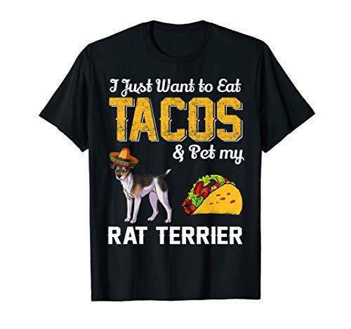 Taco T Shirt - Funny Mexican Rat Terrier Dog Taco Food -