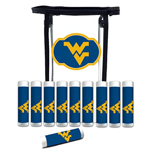 Worthy Promo NCAA West Virginia Mountaineers 10-Pack Premium Lip Balm Gift Set