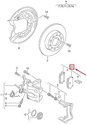 GTV INVESTMENT A3 8P Kit de plaquettes de frein arri/ère 1K0698451P