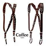 Clydesdale Pro-Dual Handmade Leather Camera Harness, Sling & Strap RL Handcrafts. DLSR, Mirrorless, Point & Shoot Made in The USA (Coffee, X-Small)
