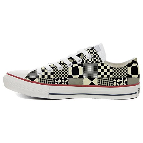 Converse All Star zapatos personalizados Unisex (Producto Artesano) Pachtwork Texture
