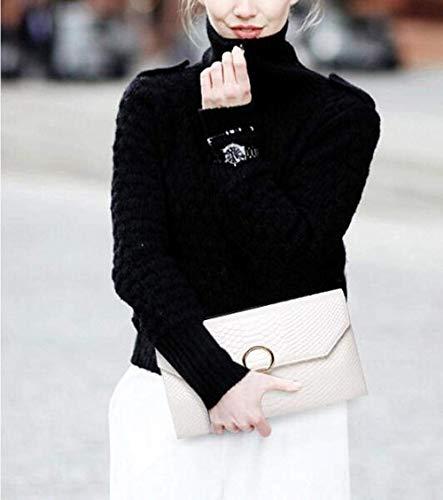 Stati e Modello Fashion unicaBianco Uniticolorenerotaglia Ladies a TracollaBorsa catena Clutch coccodrillo Europa UqzMVSp