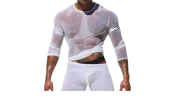 Camiseta Interior de Malla Transparente para Hombre, de ...