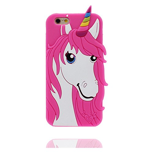 "Hülle iPhone 6 Plus, TPU flexibles iPhone 6S Plus Handyhülle (5.5""), iPhone 6 Plus Case (5.5""),3D Einhorn unicorn Staub-Kratzer beständig und Ring Ständer für Handy"