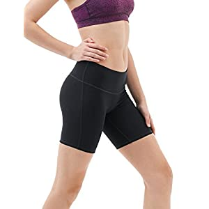 "TM-FYS11-BLK_Large Tesla Shorts 7"" Bike Running Yoga w Hidden Pockets FYS11"