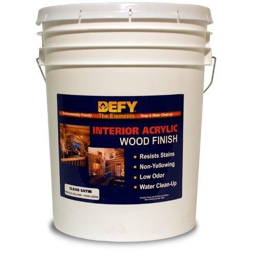 - DEFY Interior Clear Wood Finish Satin 5gal