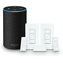 Echo (2nd Generation) - Charcoal + Lutron Deluxe Smart Lighting Starter Kit