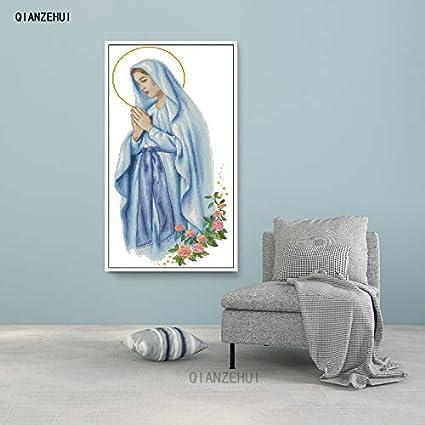Amazon.com: Ochoos, aguja, DIY Virgen María punto de cruz ...