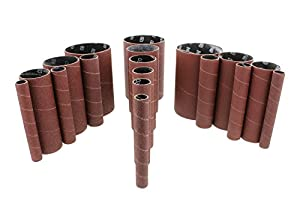 """ABN Aluminum Oxide Spindle Sanding Sleeves 18-Pack – 4.5"""" Inch Length, Assorted 80 120 240 Grit, 1/2"""" to 3"""" Sandpaper"""