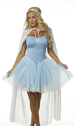 Velvet Kitten Gorgeous Fairytale Princess Costume 8162 Large Baby Blue - Princess Outfit For Adults