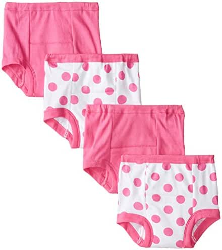 Gerber Baby and Toddler Girls' 4 Pack Training Pants
