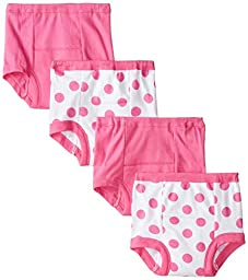 Gerber Girls Training Pants, Polka Dot, 18 Months - Pack of 4