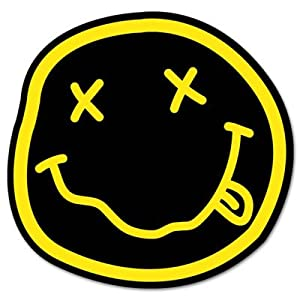 Amazon.com: NIRVANA smiley rock band Vynil Car Sticker Decal - 5
