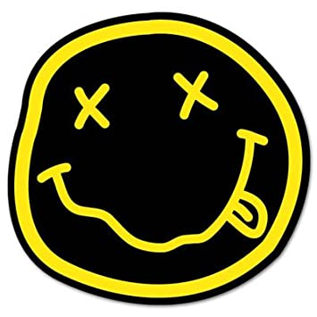 Amazon.com: NIRVANA smiley rock band Vynil Car Sticker Decal - 5 ...