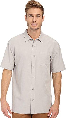 O'Neill Mens Jack O'Neill Ixtapa Button Up Short-Sleeve Shirt X-Large Grey