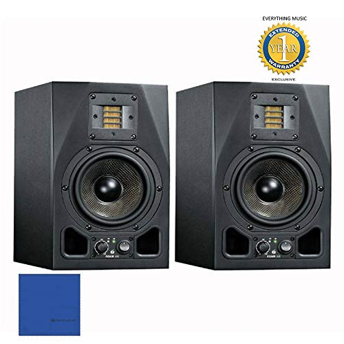 """Adam Audio A3X 4.5"""" 50W Active 2-Way Studio Monitor (Pair) wth 1 Year Free Extended Warranty"""