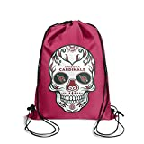 JREHR Novelty Drawstring String Sugar Candy Backpack Bags Gym Cinch Tote Skull Sack for Travel Football Mens