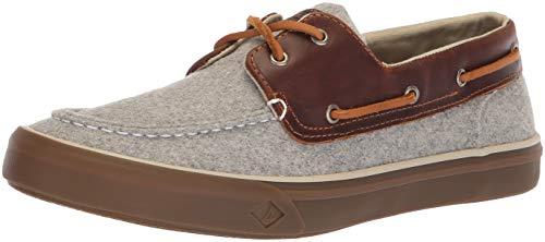 SPERRY Men's Bahama II Boat Wool Sneaker, Grey, 10.5 M US