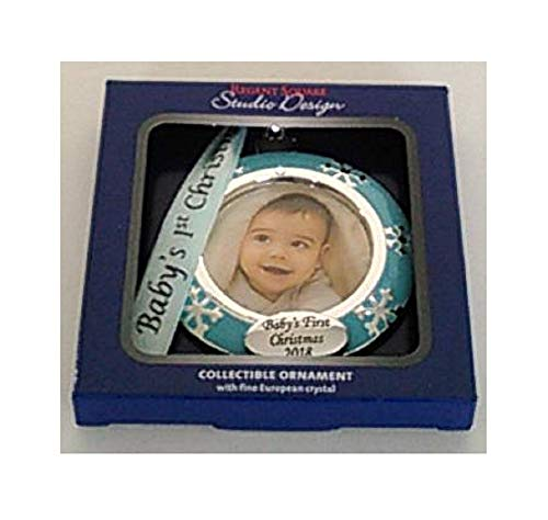 Regent Square Studio Design Christmas Ornament with Fine European Crystal, Baby's First Christmas 2018 (Regent Square Ornament)