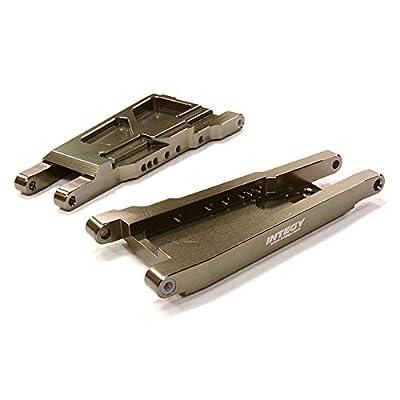 Integy RC Model Hop-ups C26521GREY Billet Machined Lower Suspension Arm (2) for Traxxas 1/10 Slash 4X4 LCG