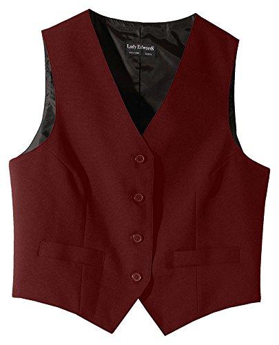 (Edwards Women's Economy Vest, BURGUNDY,)