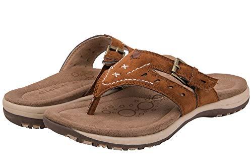 GLOBALWIN Women's Brown Casual Sandal Flip Flop 10 M US