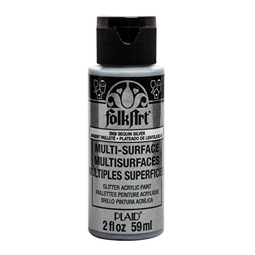 FolkArt multisurface glitter paint, 2 oz, Sequin