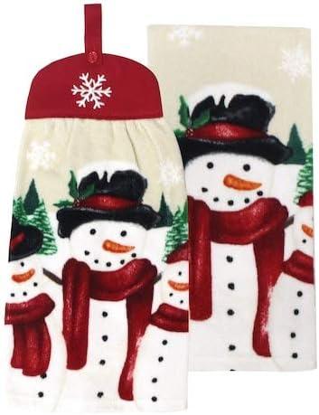 St. Nicholas Square Snowmen Tie-Top Kitchen Towel Set, 2-Pack