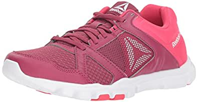 Reebok Women's Yourflex Trainette 10 Mt Cross Trainer, Berry/Twisted Pink, 5 M US
