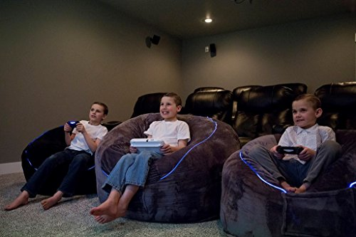 41 9wu09RFL - The-Beam-Bag-Bean-Bag-Chair-with-Lights-Gaming-3ft-bag-Youth-Size-Gray
