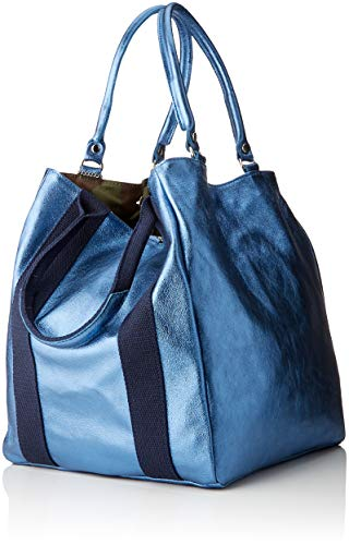 Mujer Cbc34015tar De Shoppers Hombro blu Bolsos Azul Y Chicca Borse AqP6FF