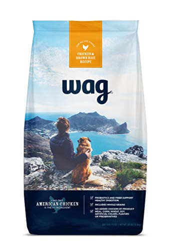 Amazon Brand – Wag Dry Dog Food with Grains (Chicken/Salmon and Brown Rice)