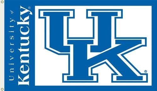 BSI Indoor Outdoor Sports Banner Kentucky Wildcats Team Logo 3 Ft. X 5 Ft. Flag With Grommets 95110