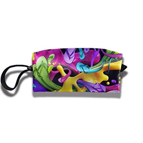Cosmetic Bags With Zipper Makeup Bag Unusual Color Middle Wallet Hangbag Wristlet -