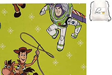 Disney Pixar TOY STORY Wrapping Paper 120 SqFt 2 rolls HOLIDAY CHRISTMAS Woody