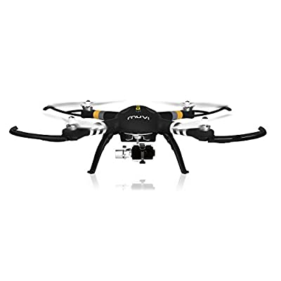 Veho Muvi Q-Series Q-1 Professional Aerial UAV Quadcopter Drone with Advanced 3-Axis Gimbal, Black (VQD-002-Q1) by Veho