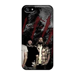 Shock-Absorbing Hard Cell-phone Case For Iphone 5/5s With Provide Private Custom Vivid In Flames Band Image KevinCormack