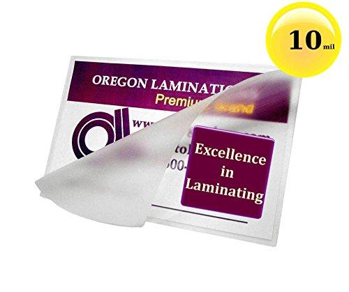 Qty 1000 10 Mil Jumbo Card Laminating Pouches 2-15/16 x 4-1/8 Hot Laminator Sleeves