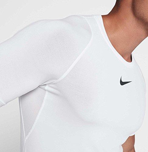 Nike Men's Pro Fitted T-Shirt (White/Black/Black, X-Large) 3