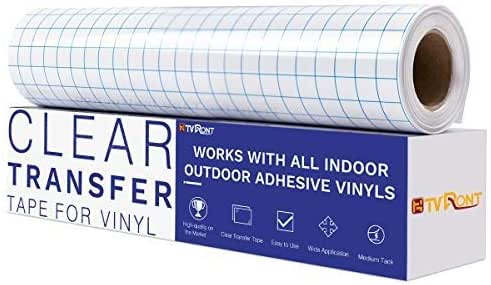 """12/"""" x 30 FT HIGH Tack Clear Transfer Tape//Application Tape FOR 651 VINYL USA #1"""