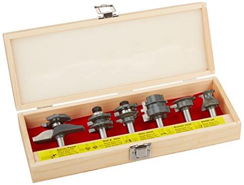 MLCS 8389 Woodworking Pro Cabinetmaker Router Bit Set with Undercutter, 6-Piece (Door Panel Router Bit Set compare prices)