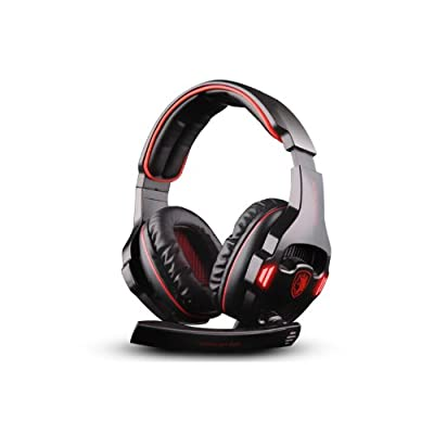 Andget® SADES SA-903 7.1 Surround Sound Headset USB Headset Gaming Headset with Microphone Black / Red