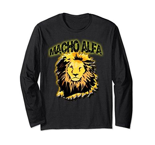 Unisex Leon La camiseta para el MACHO ALFA. Regalos Divertidos Large Black