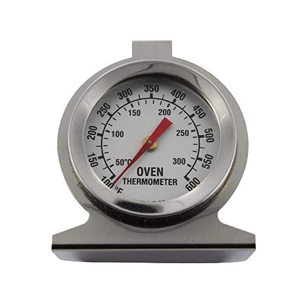 Invero - Termometro da forno universale in acciaio inox, per il monitoraggio della temperatura, da appendere o stare in… 1